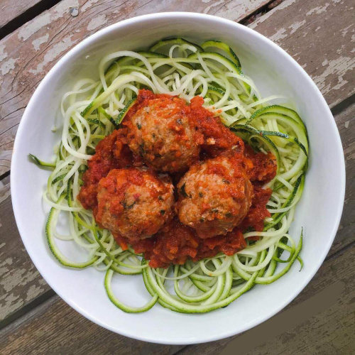 Turkey Meatballs with Courgette Spaghetti